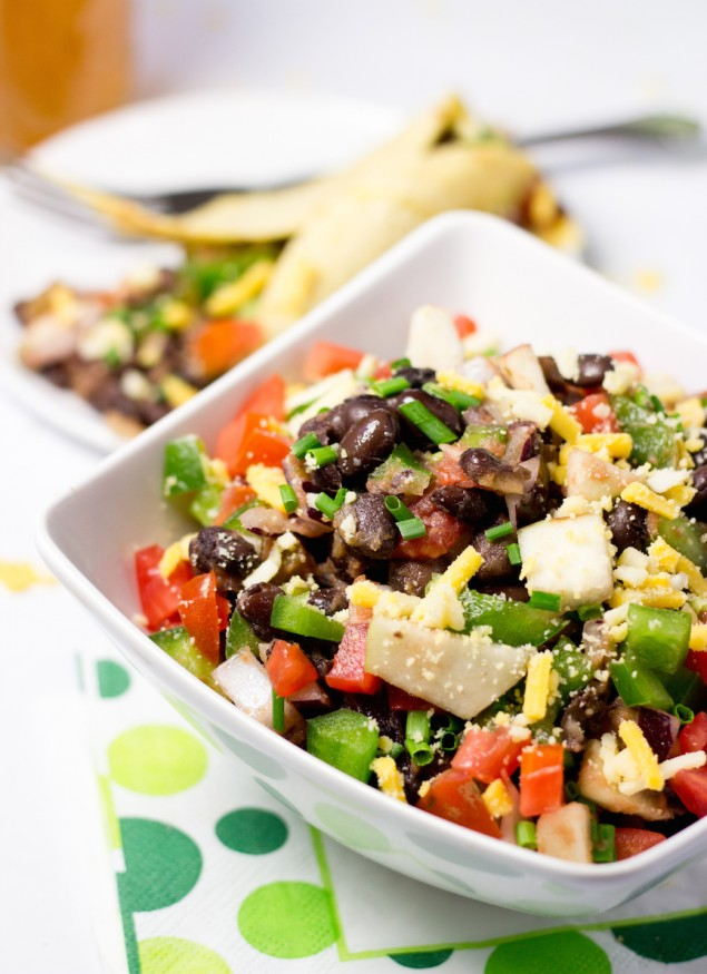 Black Bean Salsa Salad-side view
