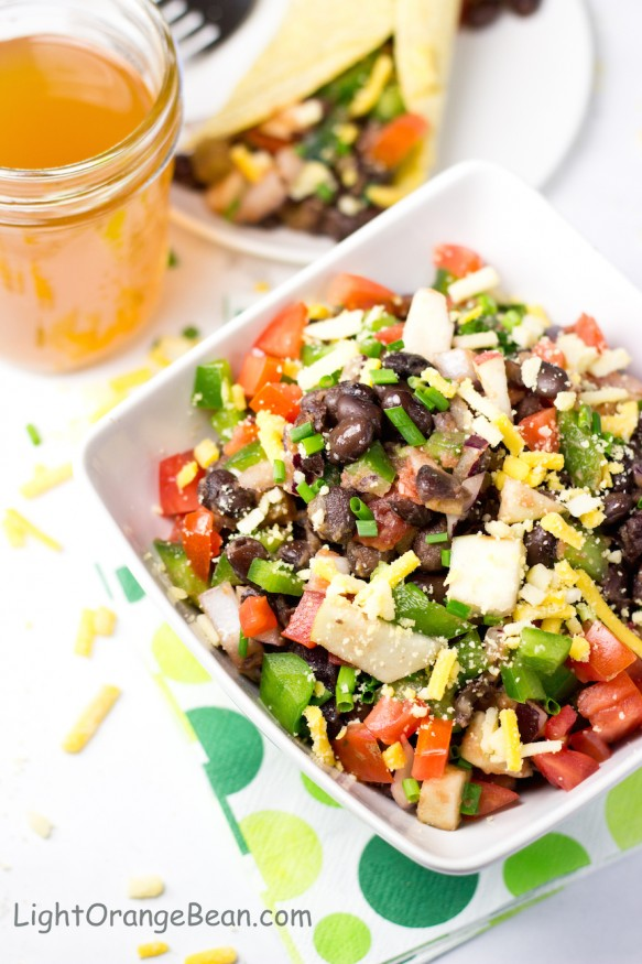 Black Bean Salsa Salad-top view