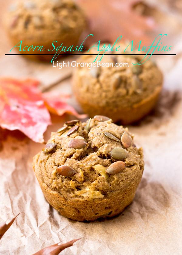 Acorn squash apple muffins