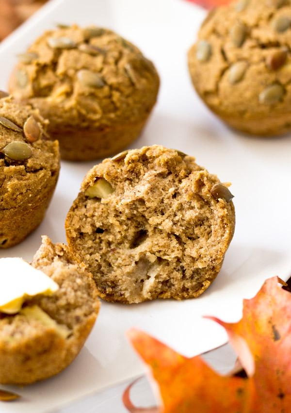 Acorn Squash Apple Muffins-texture