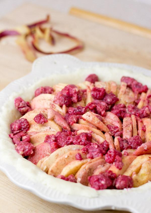 Apple Raspberry Ginger Pie-prebake