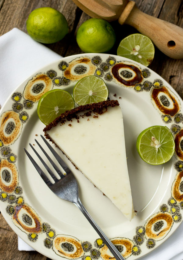 GF Vegan Key Lime Pie-top view