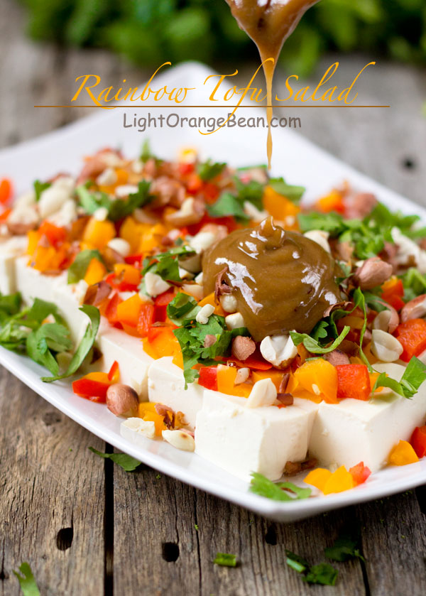 Rainbow Tofu Salad-with dressing