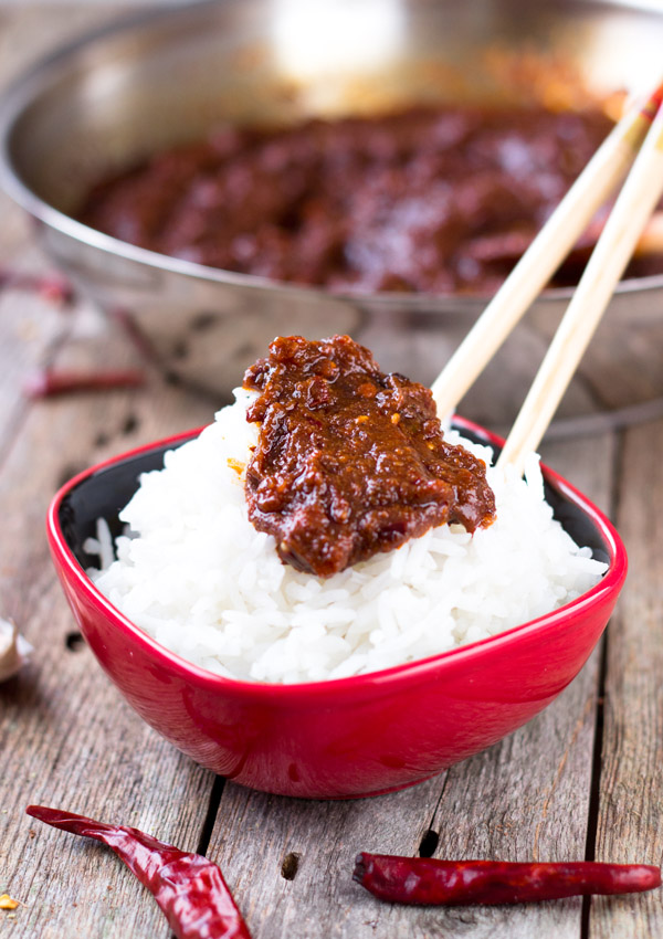 Sichuan Chili Sauce-on rice