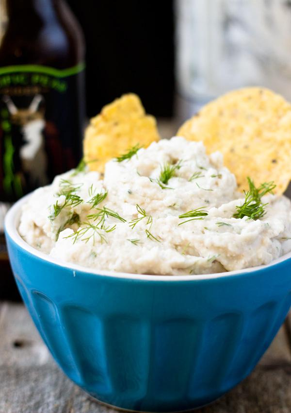 Vegan Dill Sour Cream Dip-side view