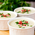 This soup is a complete meal with simple ingredients. It is super easy to make and absolutely tasty. Sprinkle some chopped parsley leaves and imitation bacon bits to make this soup elegant in both looks and taste.