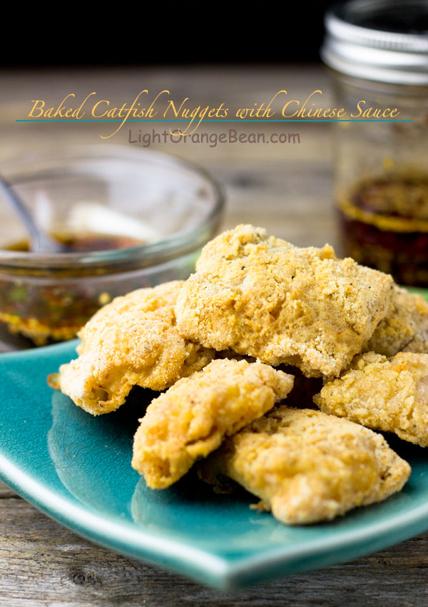 Unlike deep fried fish nuggets, these oven baked gluten-free catfish nuggets are healthier and less greasy. The homemade Chinese style spicy garlic sauce dramatically added distinctive hot and bold Chinese flavors to these baked catfish nuggets.