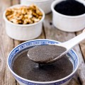 This homemade sugar free black sesame walnut hot cereal is warm, nutritious, and healthy. It is very easy and quick to make at home with only five ingredients.