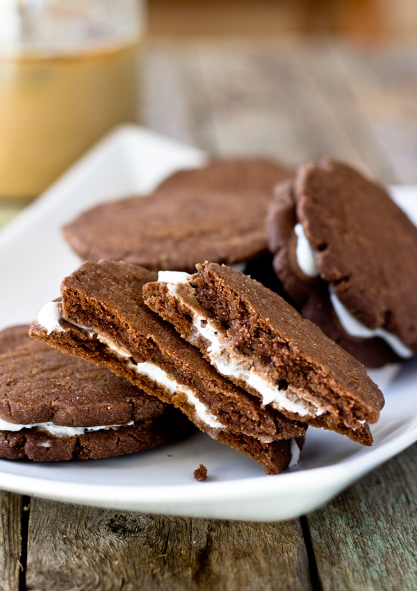 Dark Chocolate Butter Sandwich Cookies
