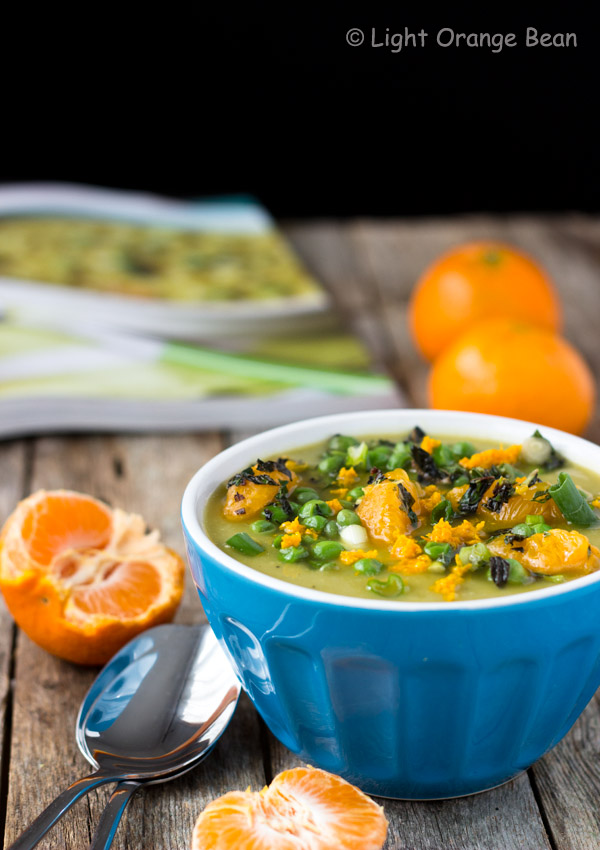 Sweet and Split Pea Soup with Mint and Clementine