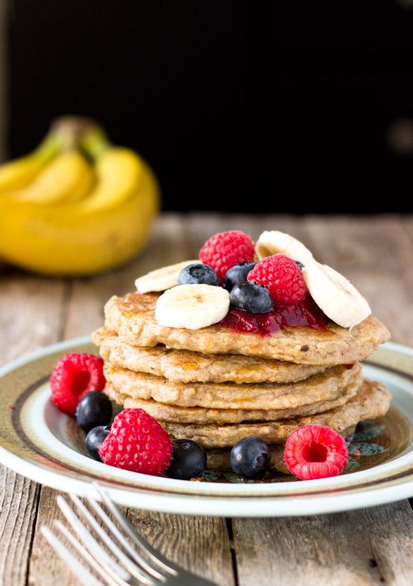 Gluten-Free Banana Oatmeal Quinoa Pancakes