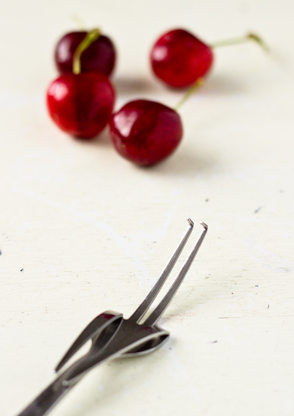 Bent/Modified Dinner Fork Cherry Pitter