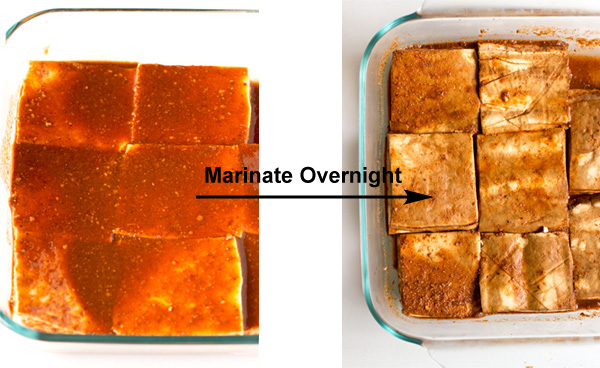 Spicy and Crispy Oven Baked Tofu
