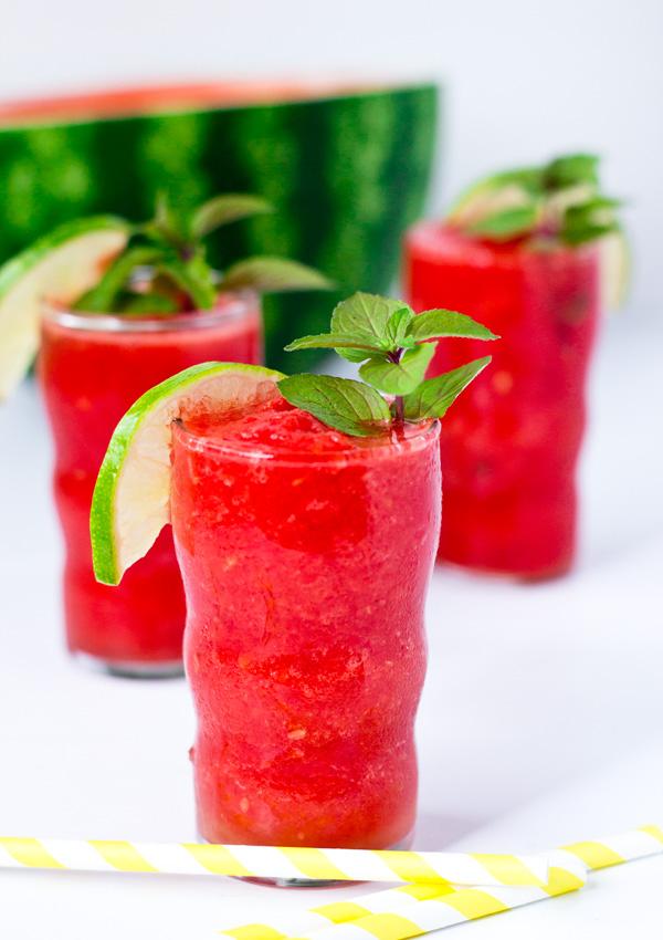 Mint Lime Watermelon Kefir Slushie | Light Orange Bean