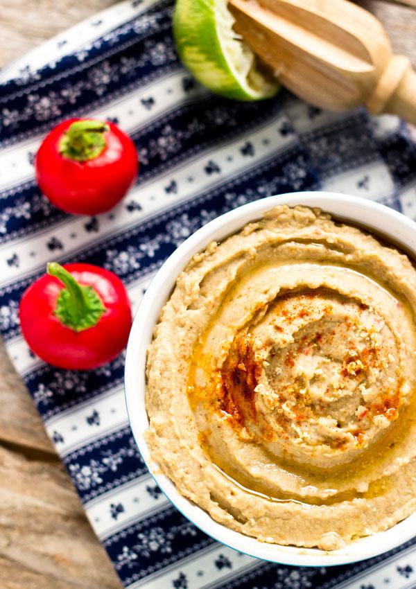 Roasted Pepper Lentil Hummus | Light Orange Bean