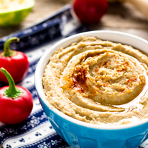 Roasted Pepper Lentil Hummus