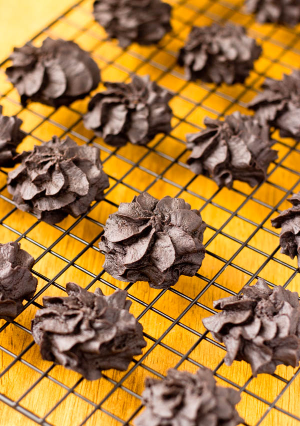 Soft Cream Cheese Dark Chocolate Cookies