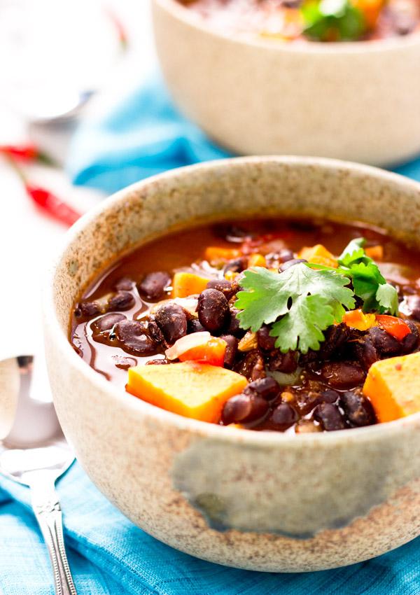 Sweet Potato Black Bean Chili | Light Orange Bean
