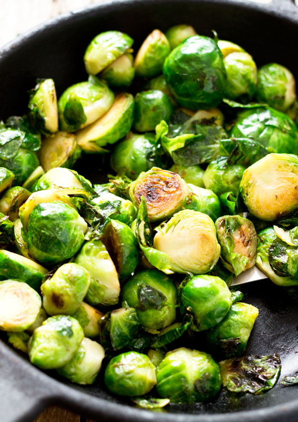 Simple Stir-fry Brussels Sprouts | Light Orange Bean