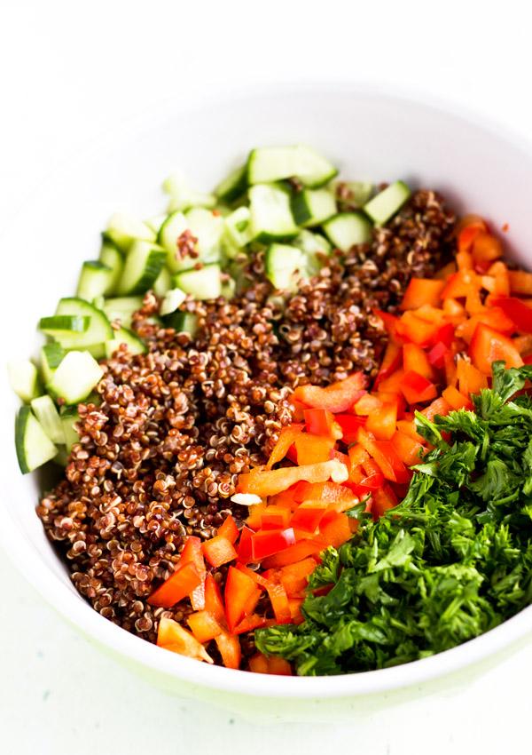 Red Quinoa Salad Bowl with Peanut-01