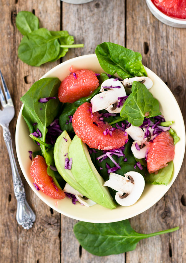Spinach Salad with Grapefruit