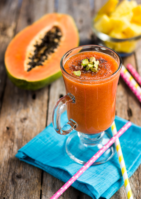 Ginger Pineapple Papaya Smoothie