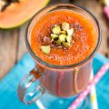 Ginger Pineapple Papaya Smoothie