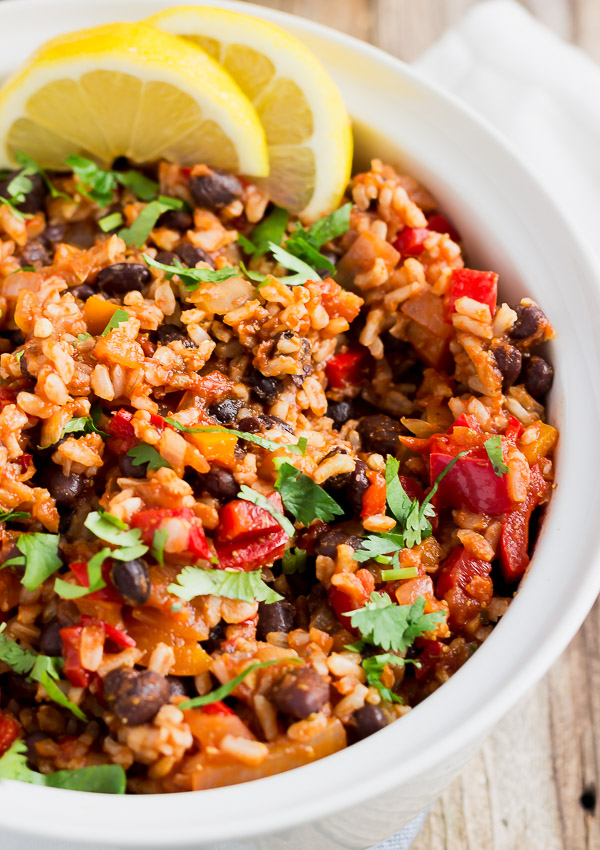 Mexican Rice with Black Beans | Light Orange Bean