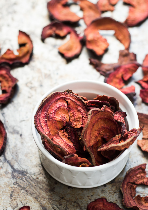 Oven Baked Beet Chips | Light Orange Bean