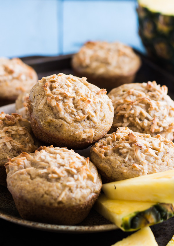 Coconut Pineapple Muffins (Vegan/GF) | Light Orange Bean