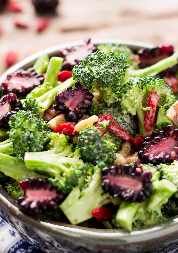 Skinny Vegan Broccoli Salad