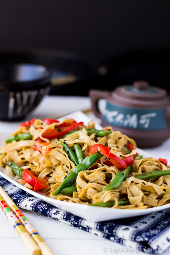 Chinese Tofu Noodles Stir-fry