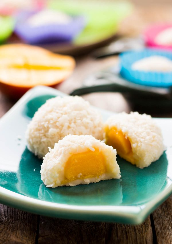 Sugar Free Coconut Mango Mochi Light Orange Bean