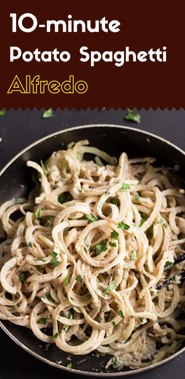 10-minute Potato Spaghetti Alfredo