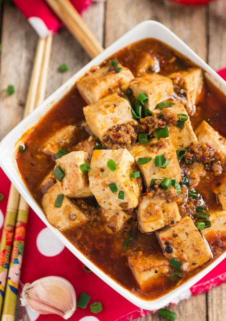 Sichuan Style Vegan Mapo Tofu