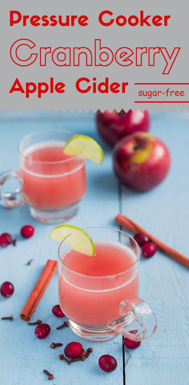 Pressure Cooker Cranberry Apple Cider