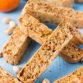 Gluten-free Orange PIstachio Biscotti