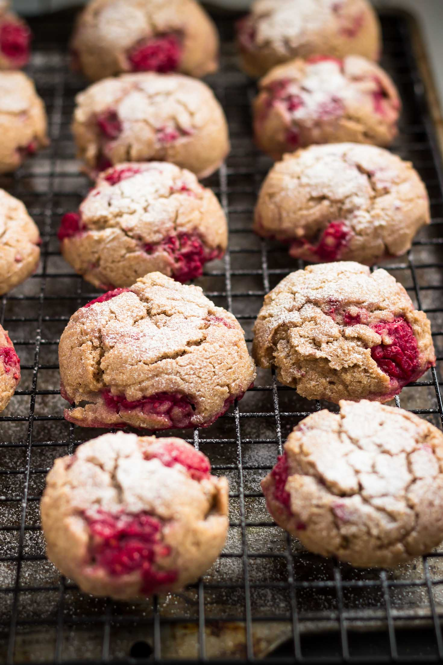 Vegan Raspberry Teff Scones