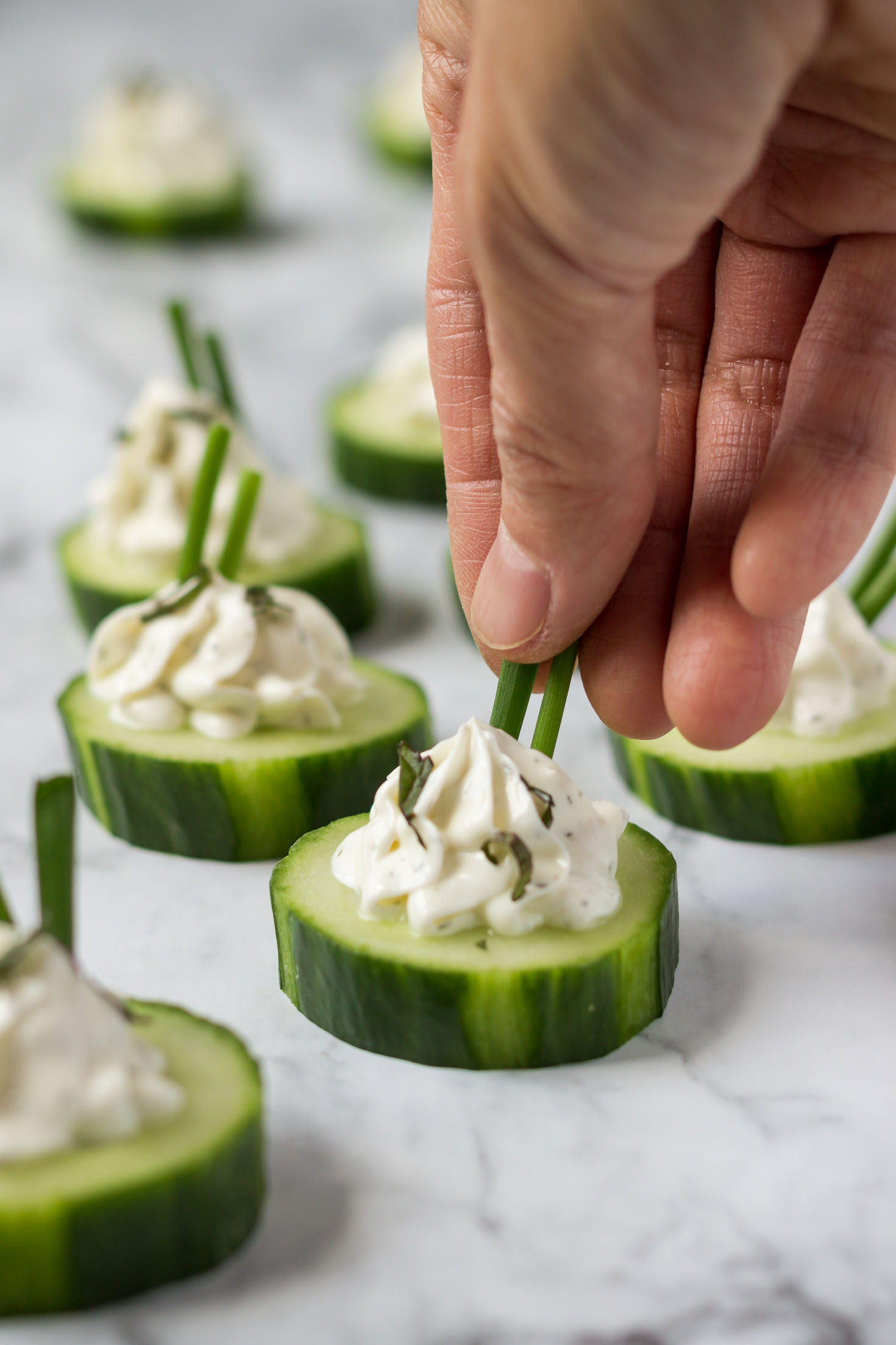 Garden Herbed Cucumber Bites