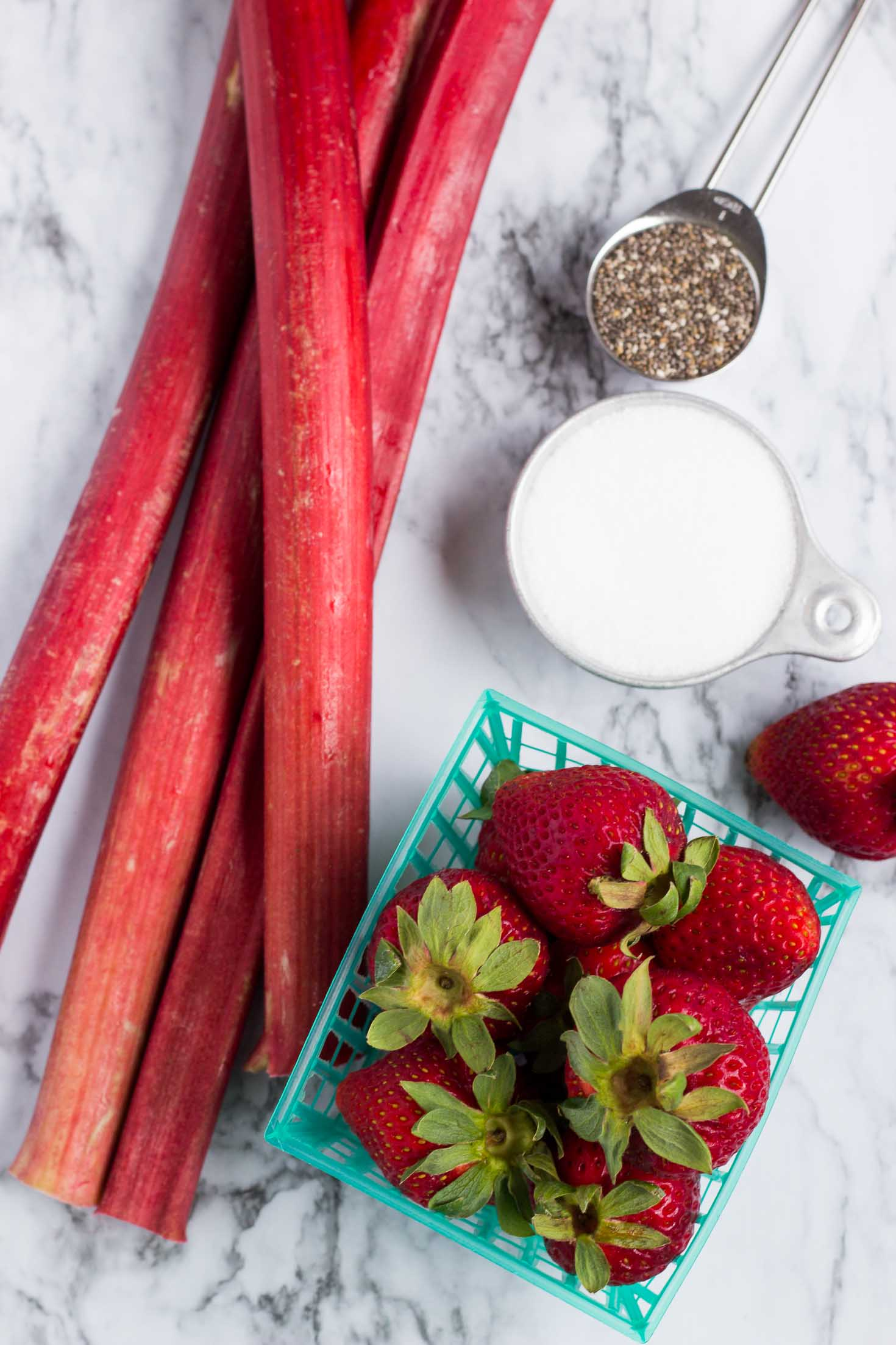 Low Carb Strawberry Rhubarb Chia Jam