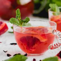Hibiscus Orange Mint Water Kefir-front view-small square image