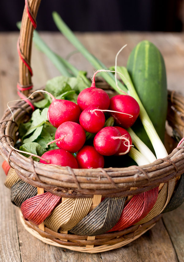 Radish Cucumber Green Onion-basket