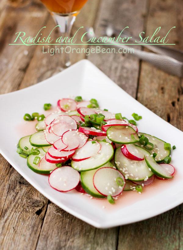 Radish and Cucumber Salad-sideview