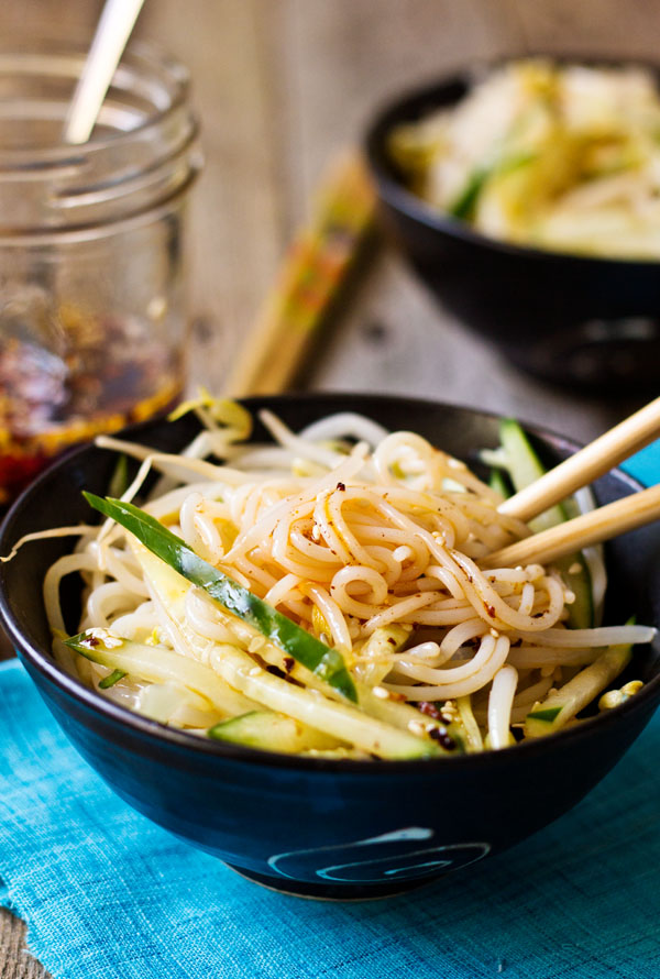 Chinese Rice Noodle Salad