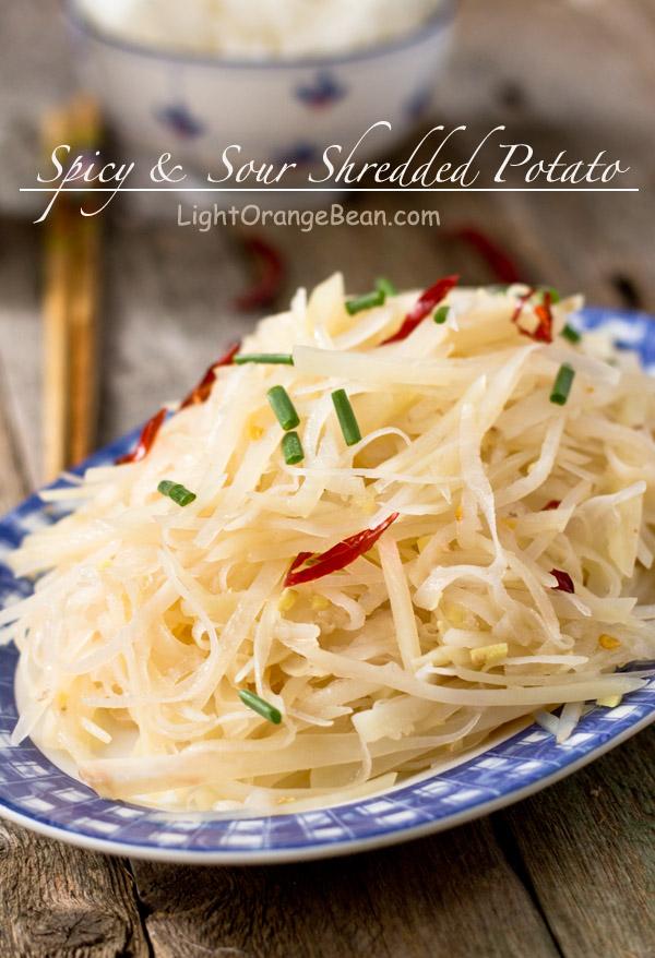 Spicy Shredded Potato-close view