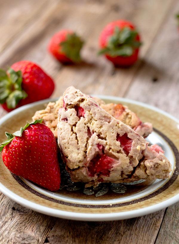 gluten-free strawberry scones