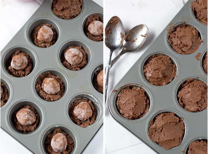 Creamy Chocolate Filled Cupcakes-muffin cups