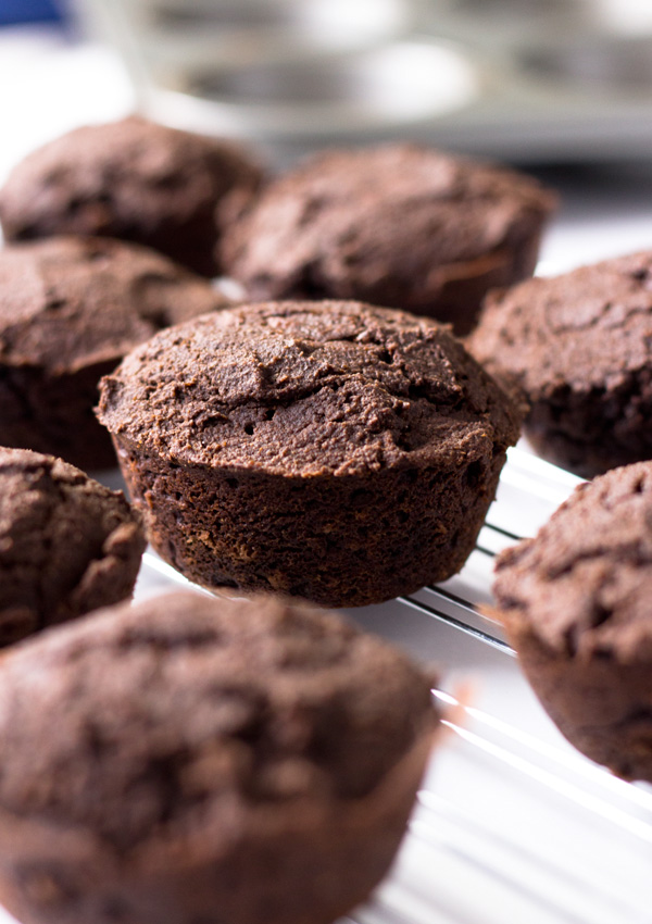 Creamy Chocolate Cupcakes-on rack
