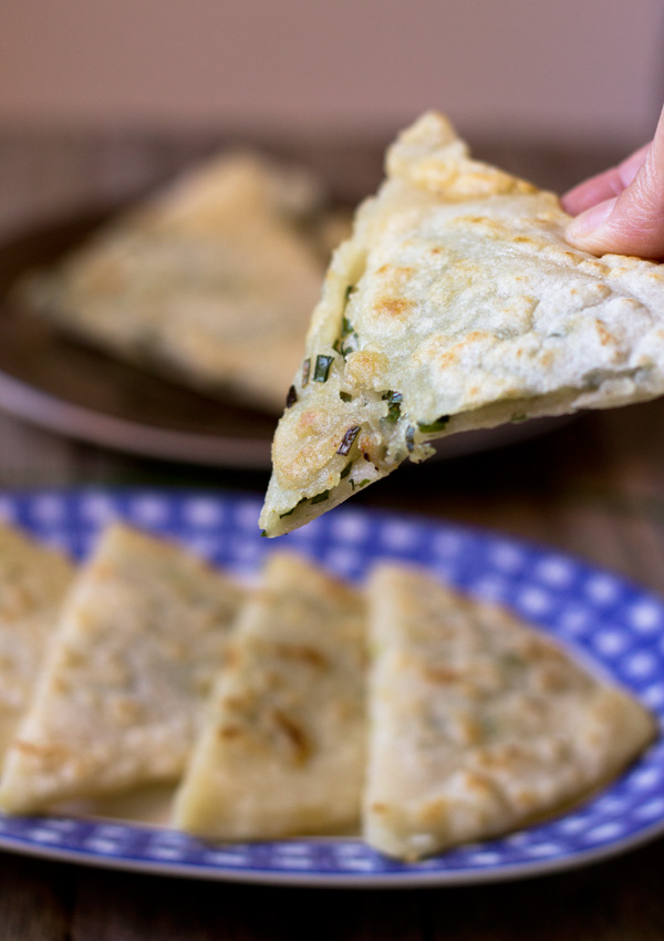 gluten free scallion pancakes-one piece