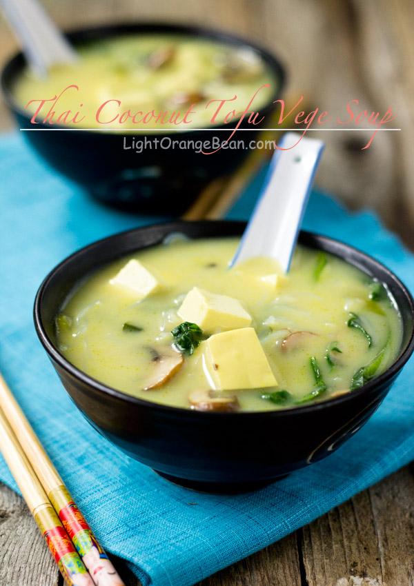 Thai Coconut Tofu Vege Soup